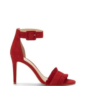 Vince Camuto Shoes - NEW Vince Camuto Red Leather Joshina Sandal Pump